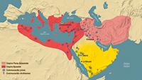 Monde méditerranéen et Moyen-Orient au début du 7e siècle