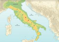 Péninsule italienne : l'espace physique