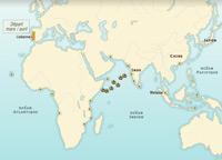 Les routes maritimes portugaises au XVIème siècle