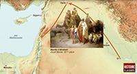 Le cadre géographique de la saga d'Abraham