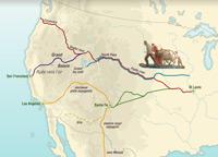Les pistes vers l'Ouest